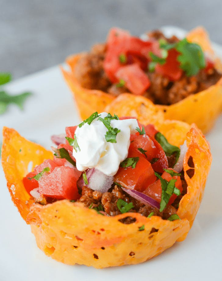 Keto Cheese Shell Taco Cup mexican recipe1