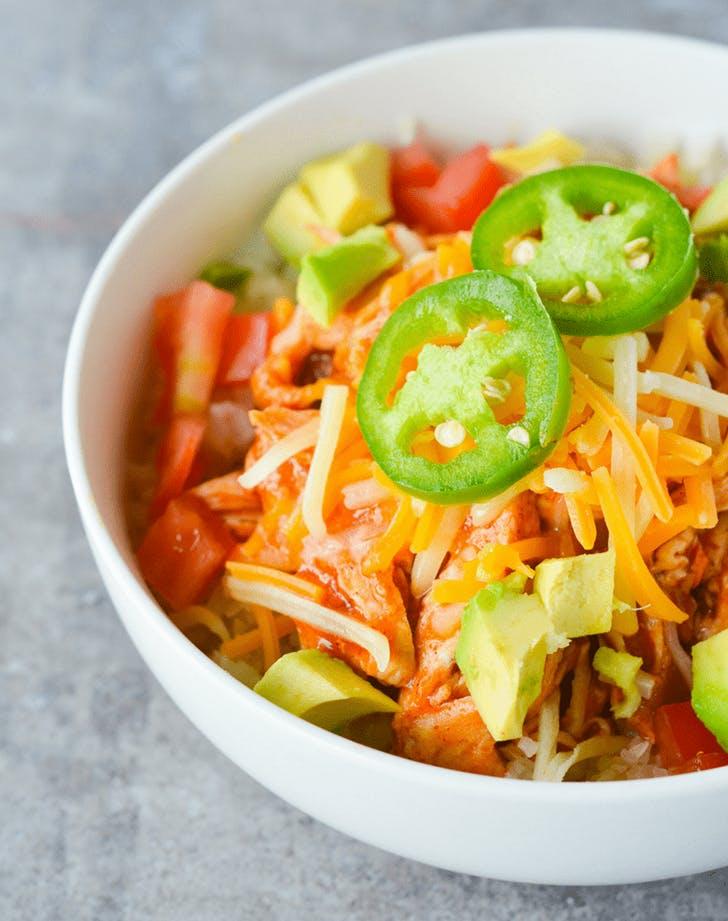 Keto Chicken Enchilada Bowl mexican recipe
