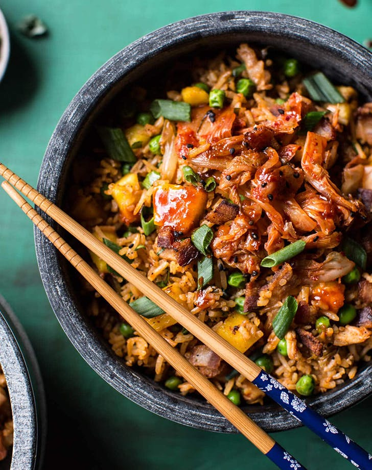 Kimchi Chicken and Bacon Fried Rice recipe