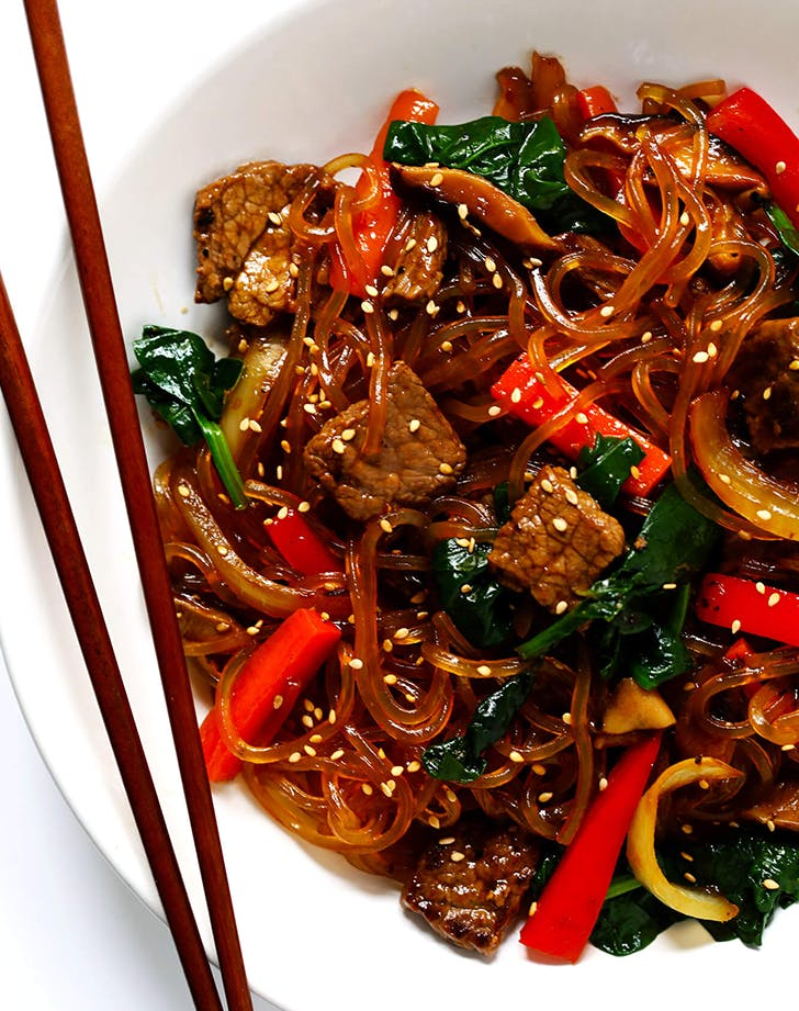 Korean Noodle Stir Fry  Japchae  recipe