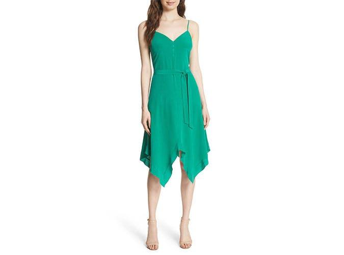 L Agence green slipdress