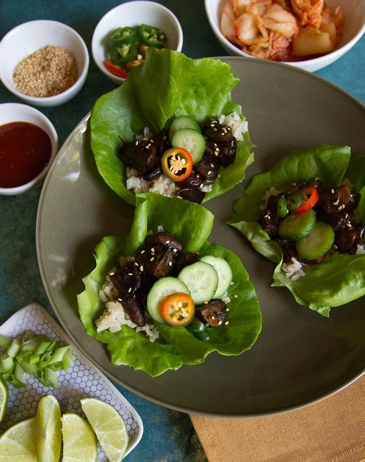 Mushroom Bulgogi Lettuce Wraps recipe