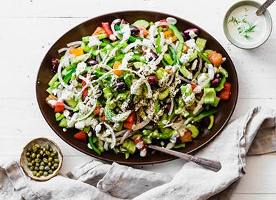 Paleo and Whole30 Greek Salad 290
