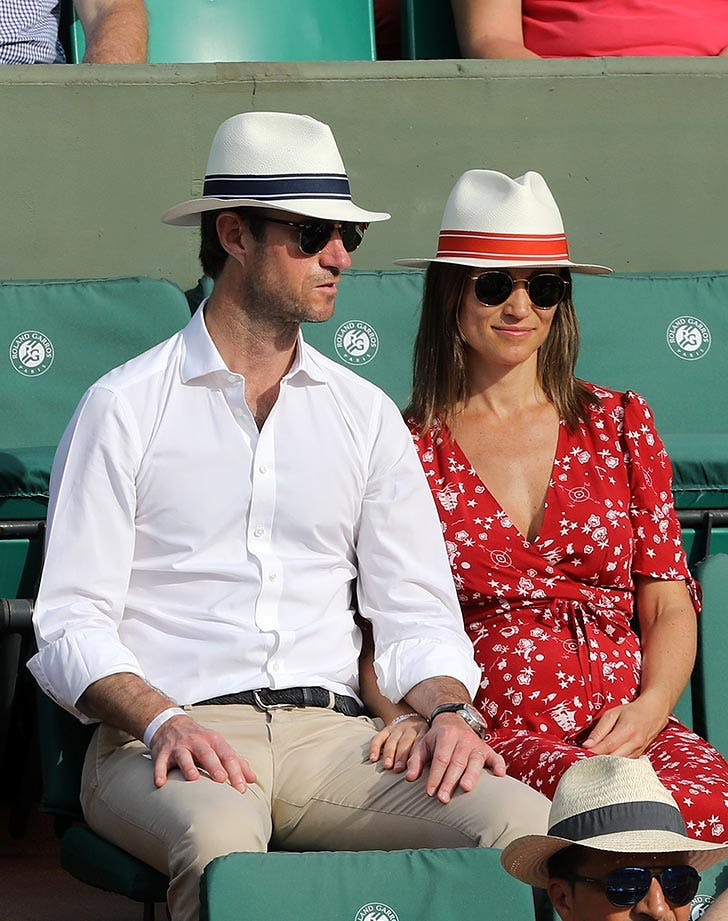 db32a210206a1 Pippa Middleton and husband James Matthews sitting at French Open