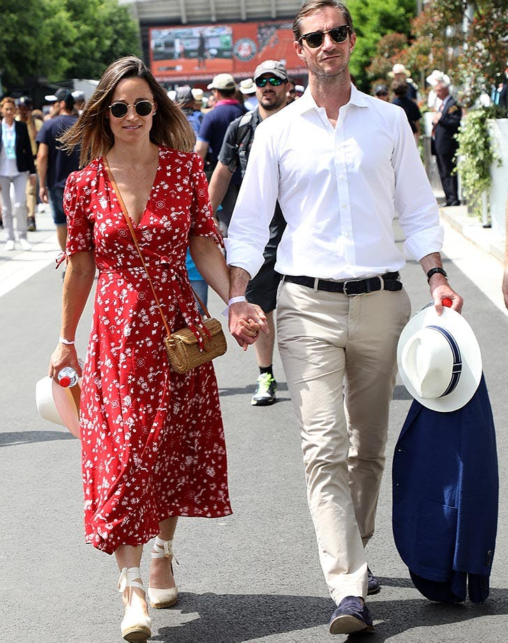 Pippa Middleton red dress at French Open