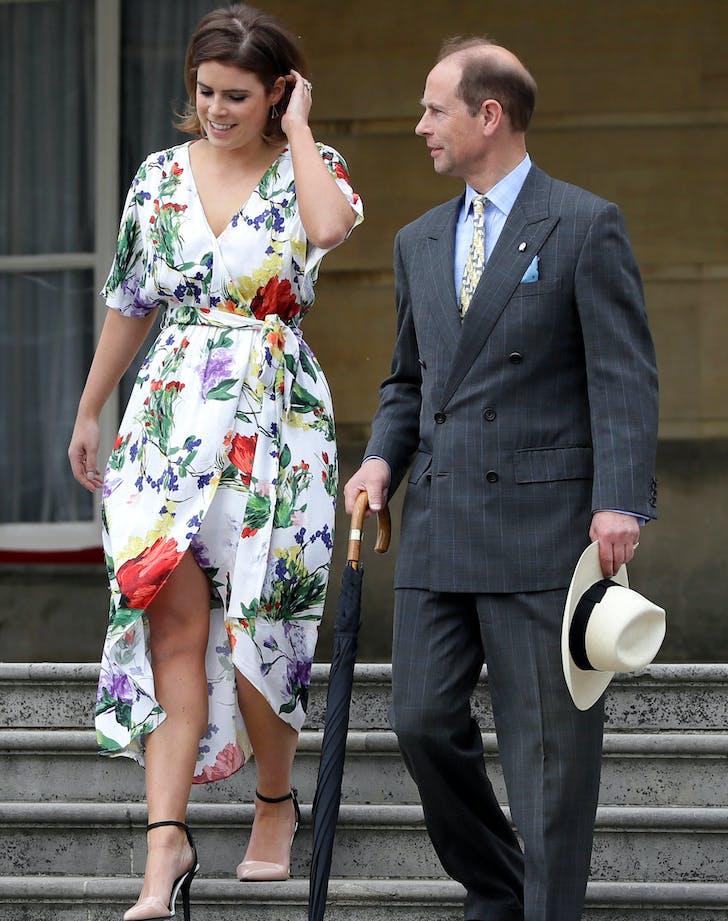 Princess Eugenie White Floral Dress