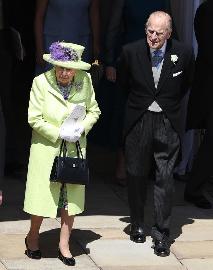 Queen Elizabeth and Prince Philip at the royal wedding