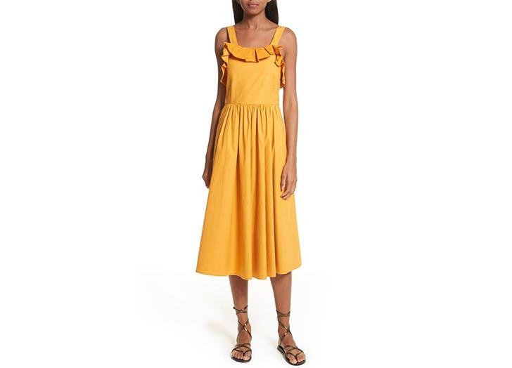 Sea yellow ruffle dress