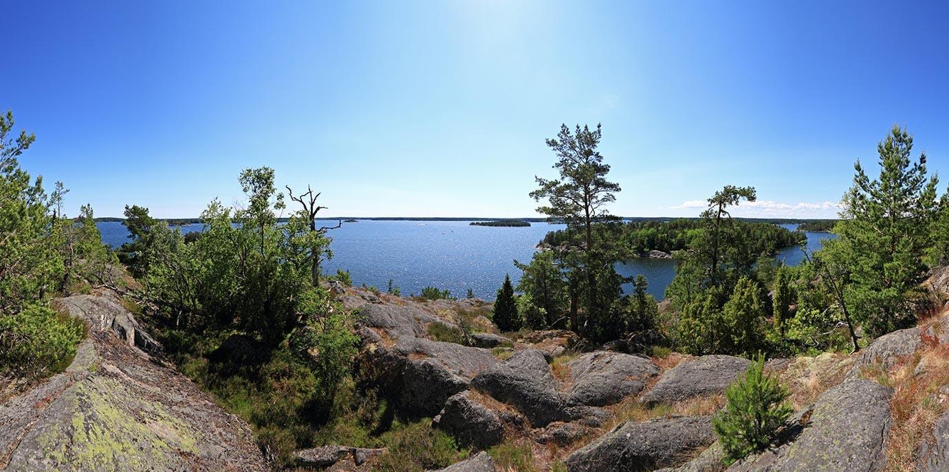Stockholm Archipelago panorama from Grinda island