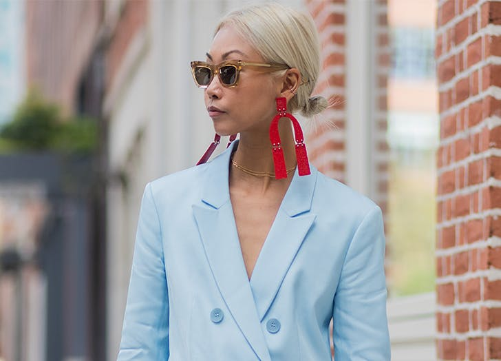 abstract geometric earrings are a big trend for summer 2018
