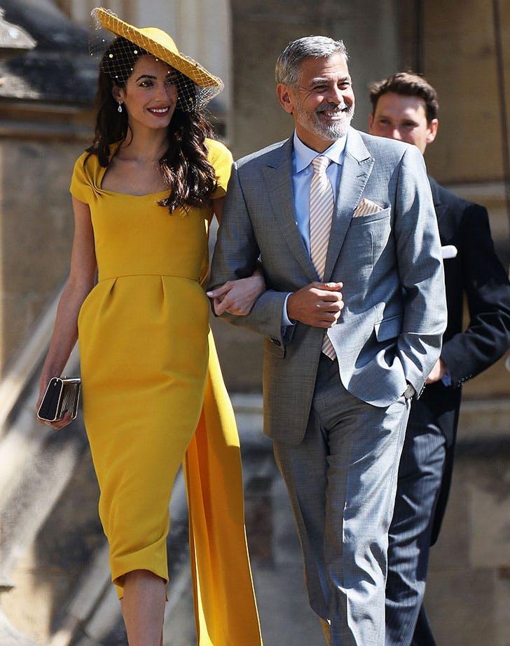 amal clooney george clooney royal wedding guest fashion