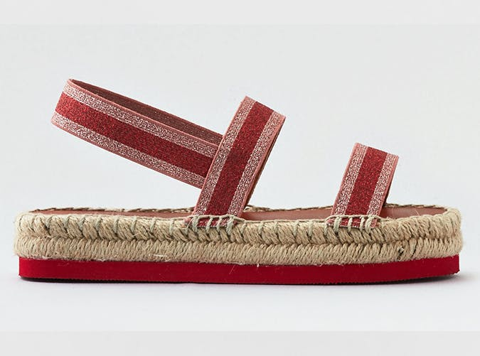 e4f6b698e7ef Metallic Espadrille. You know how we love a good flatform. American Eagle  Outfitters ( 40). lane bryant studded flat sandals