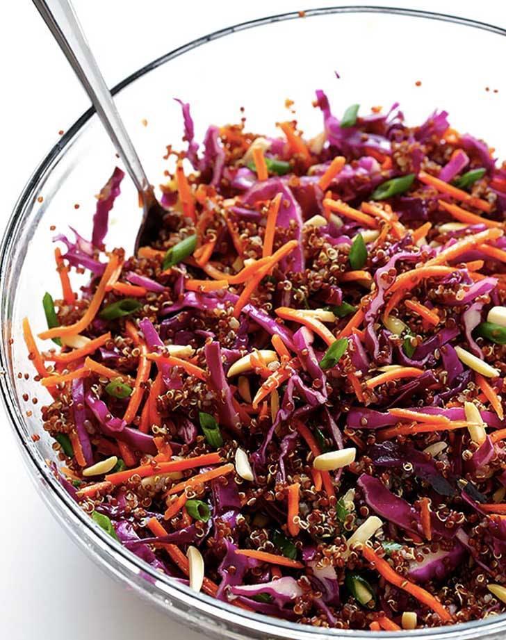asian quinoa cole slaw