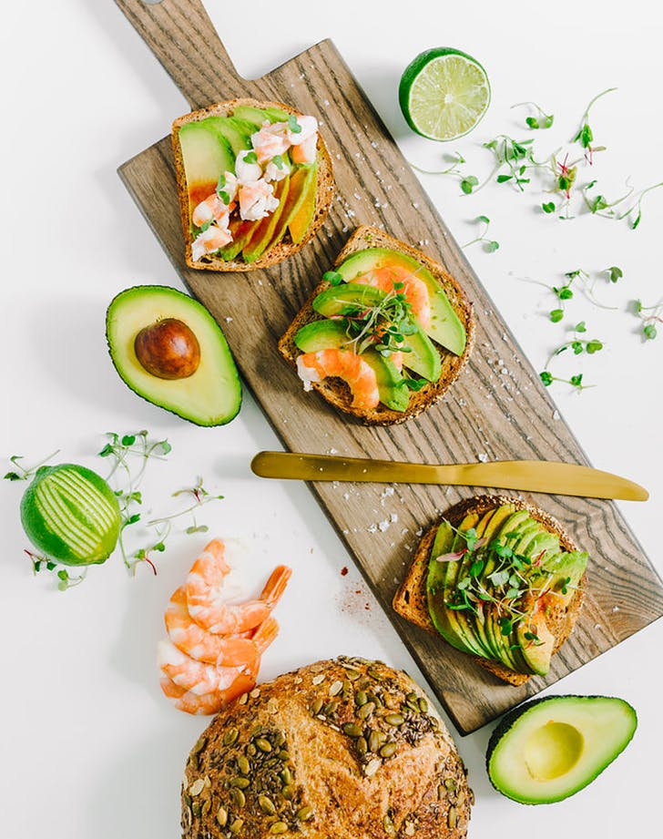 avocado shrimp toast scandinavian smorrebrod recipe