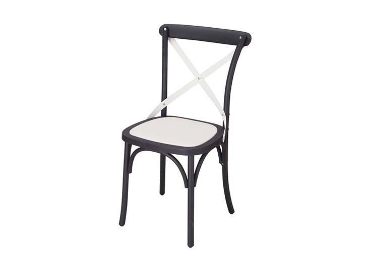 black white bistro chair