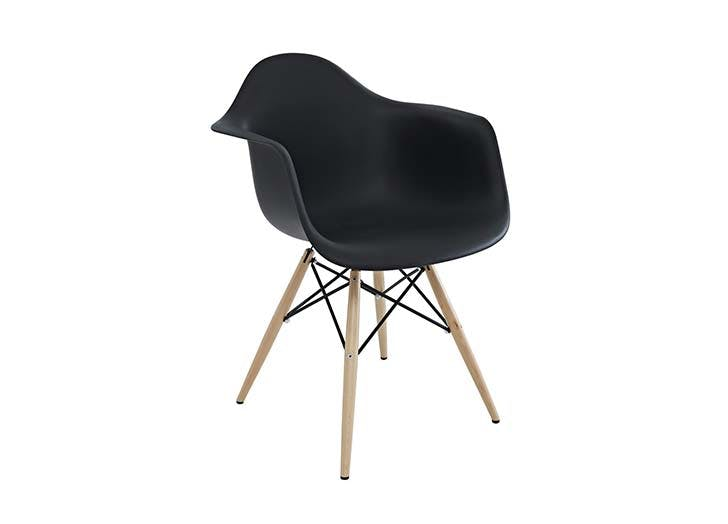 black eames style chair
