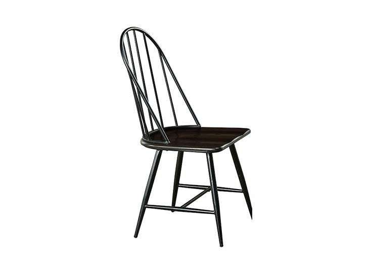 black spindle dining chair