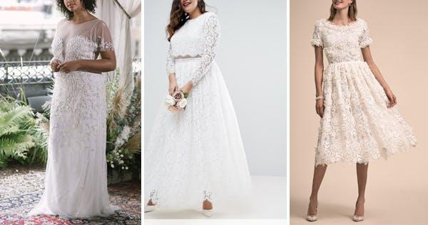 Cheap Black N White Wedding Dresses: 9 Actually Comfortable Wedding Dresses