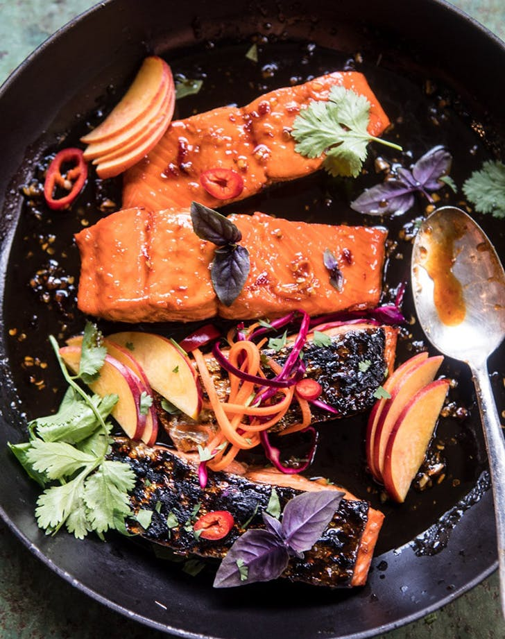 crispy honey ginger salmon recipe