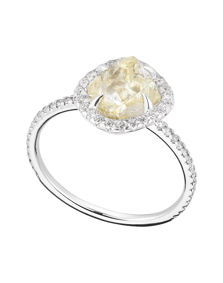 diamond in the rough engagement ring