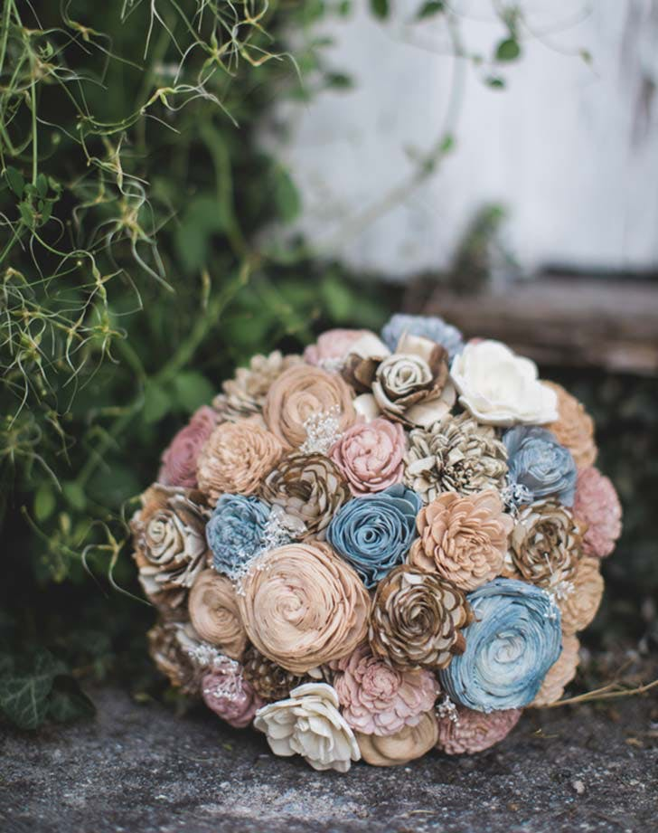 driedblooms wedding bouquet
