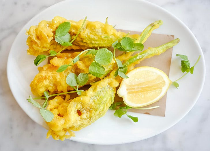 evelina fried zucchini blossoms