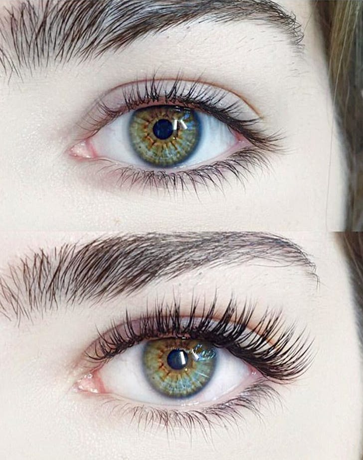 The Difference Between Eyelash Extensions And Lash Lifts Purewow