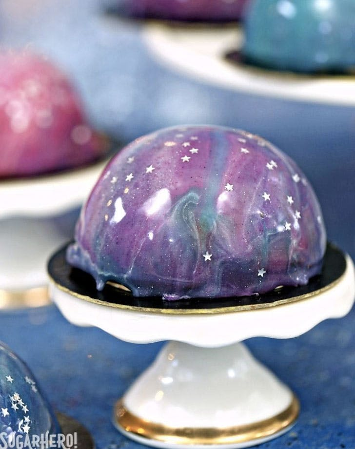 galaxy mousse cakes recipe