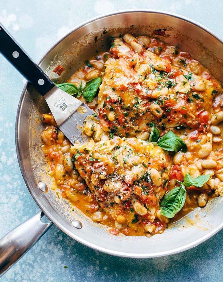 garlic basil barramundi skillet with tomato basil butter sauce recipe