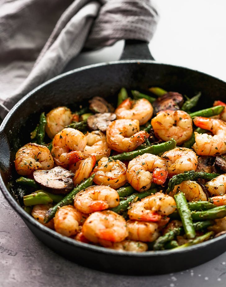 garlic shrimp asparagus skillet recipe
