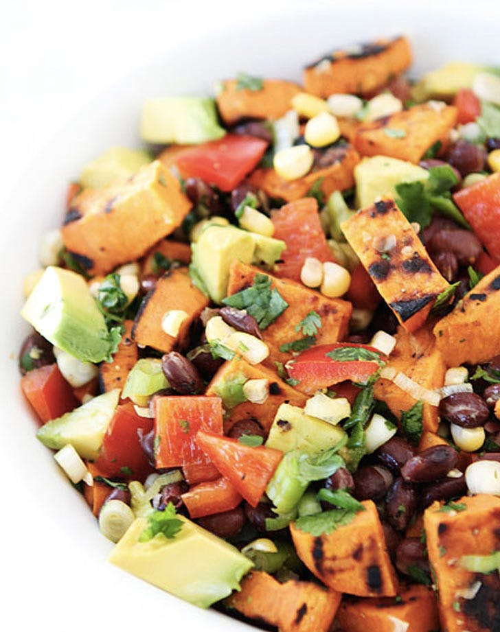 grilled sweet potato salad corn