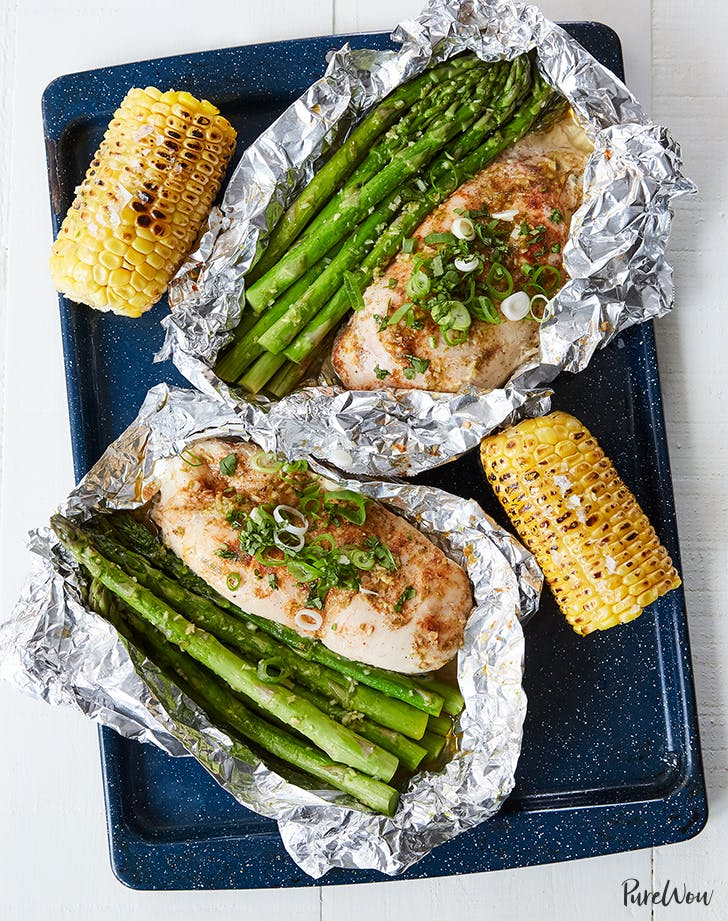 honey lime chicken and veggies in foil recipe1