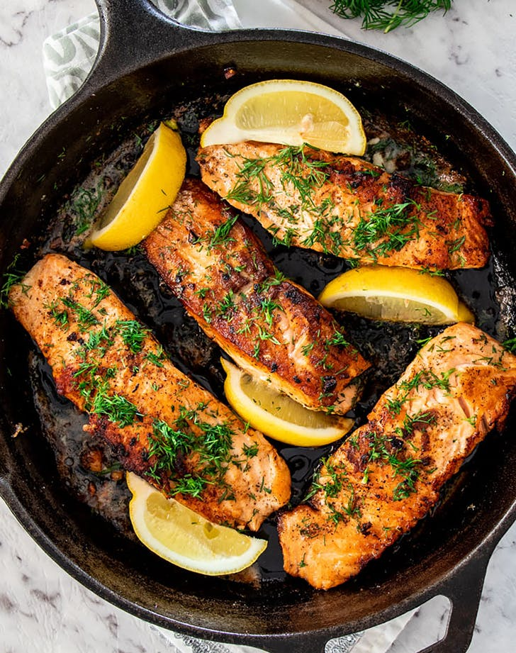 lemon dill pan fried salmon recipe