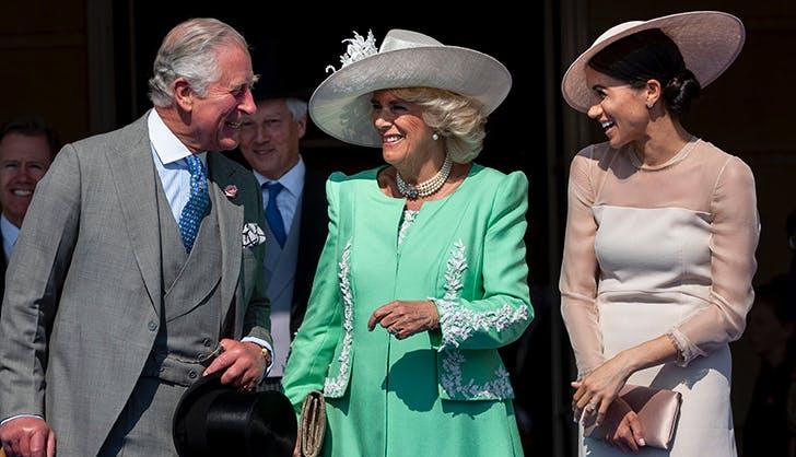 meghan markle prince charles laugh