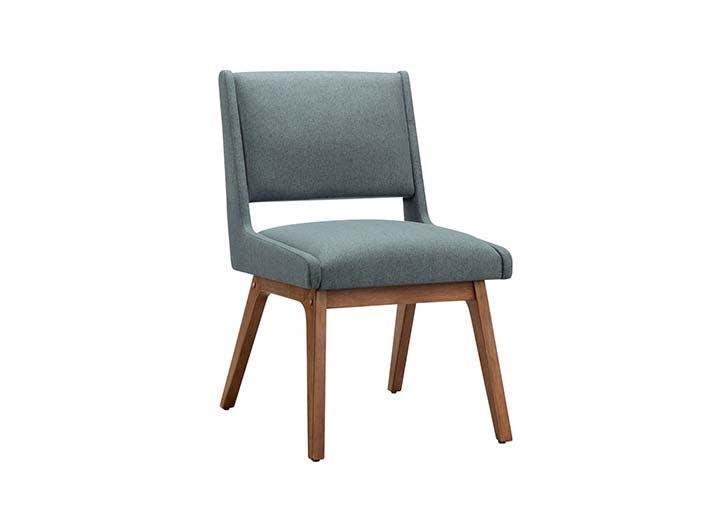 midcentury teal chair
