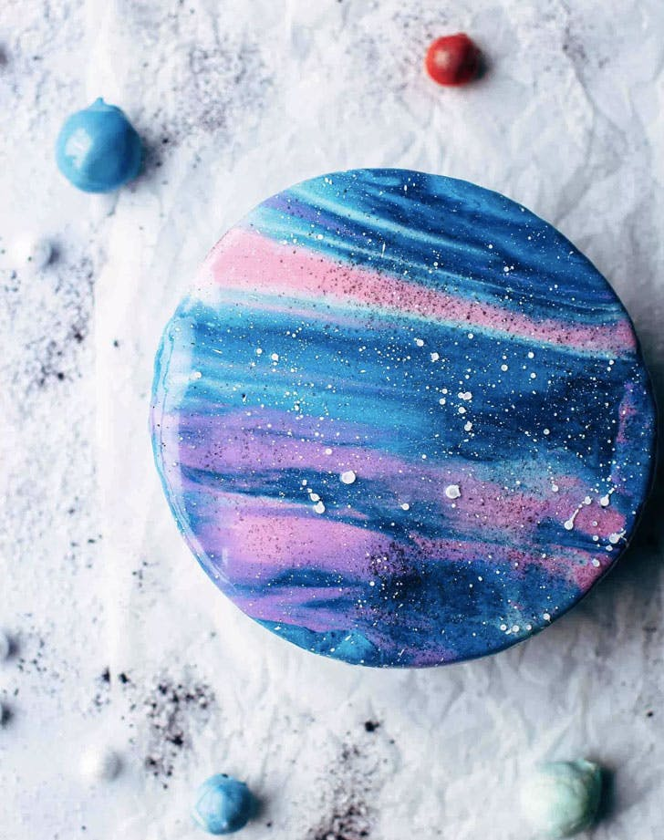 mirror glaze galaxy cake recipe