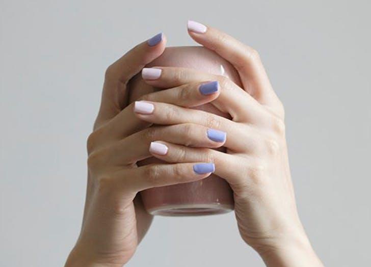 mismatched nail colors