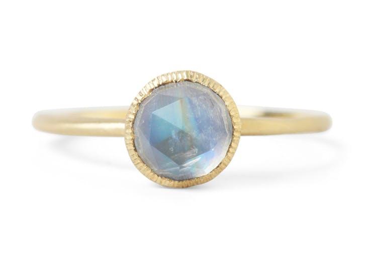 moonstone healing crystal engagment ring