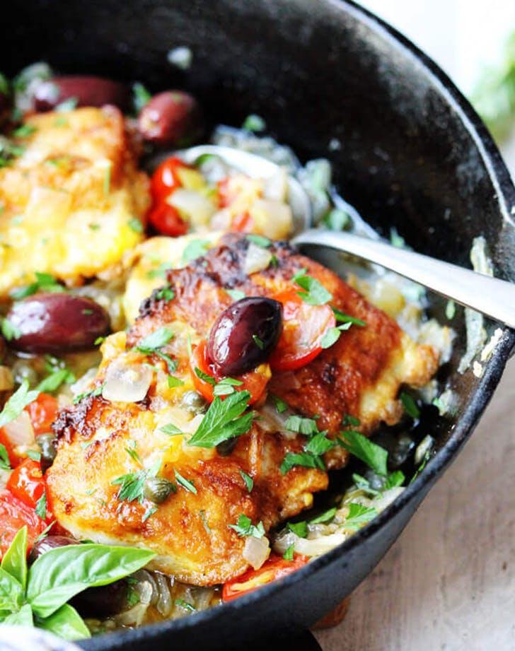 pan fried haddock mediterranean style recipe
