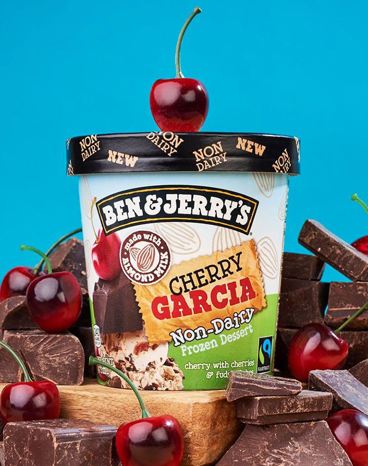 pint of ben and jerrys non dairy cherry garcia