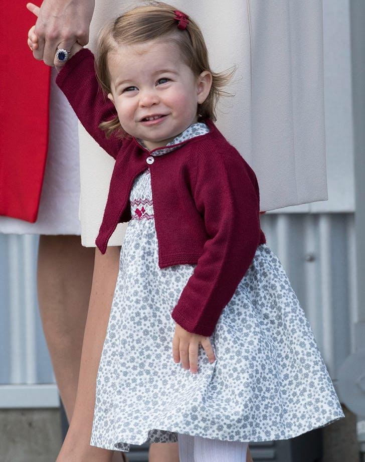 princess charlotte first royal curtsy