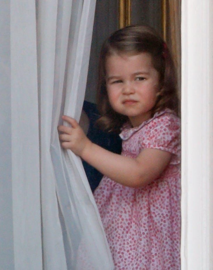 princess charlotte peeking through window