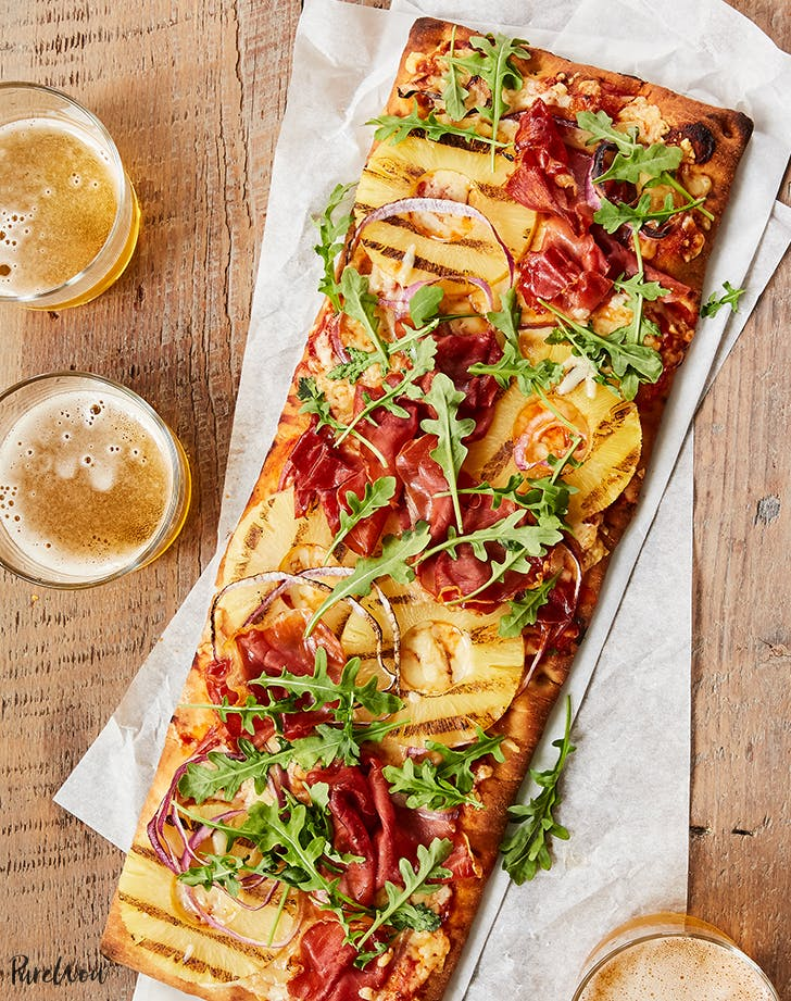 Cheater's Prosciutto Hawaiian Pizza
