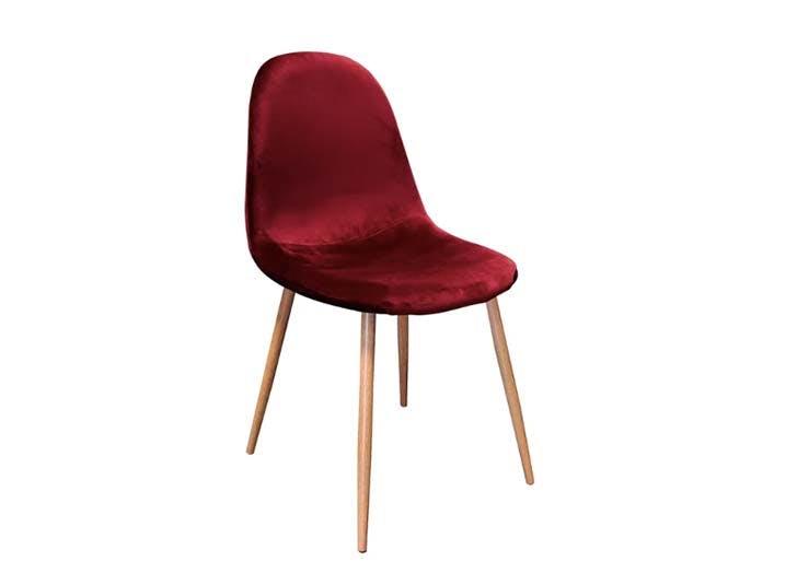red velvet dining chair