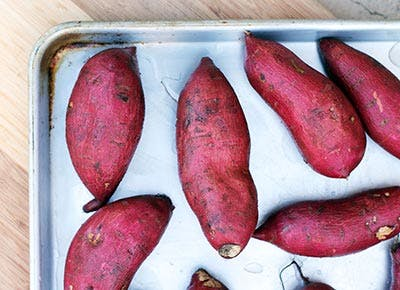 roasted japanese sweet potatoes 400