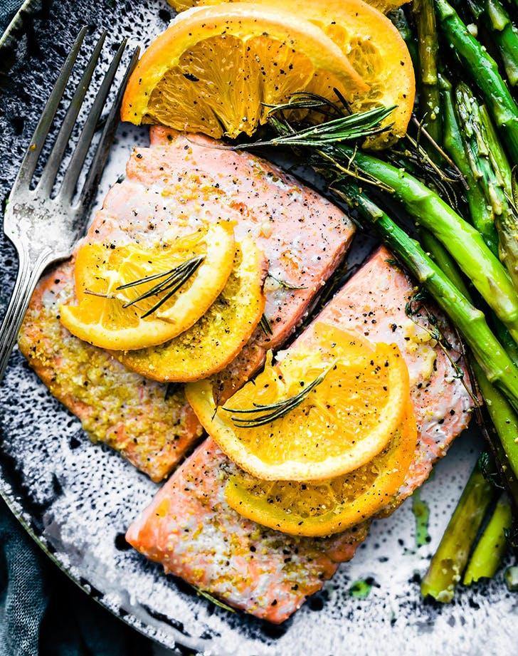 rosemary citrus one pan baked salmon recipe