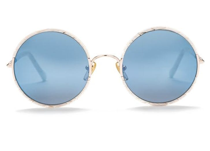 round sunglasses blue