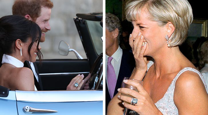 Meghan Markles 'Something Blue Was Also a 'Something Borrowed...from Princess Diana