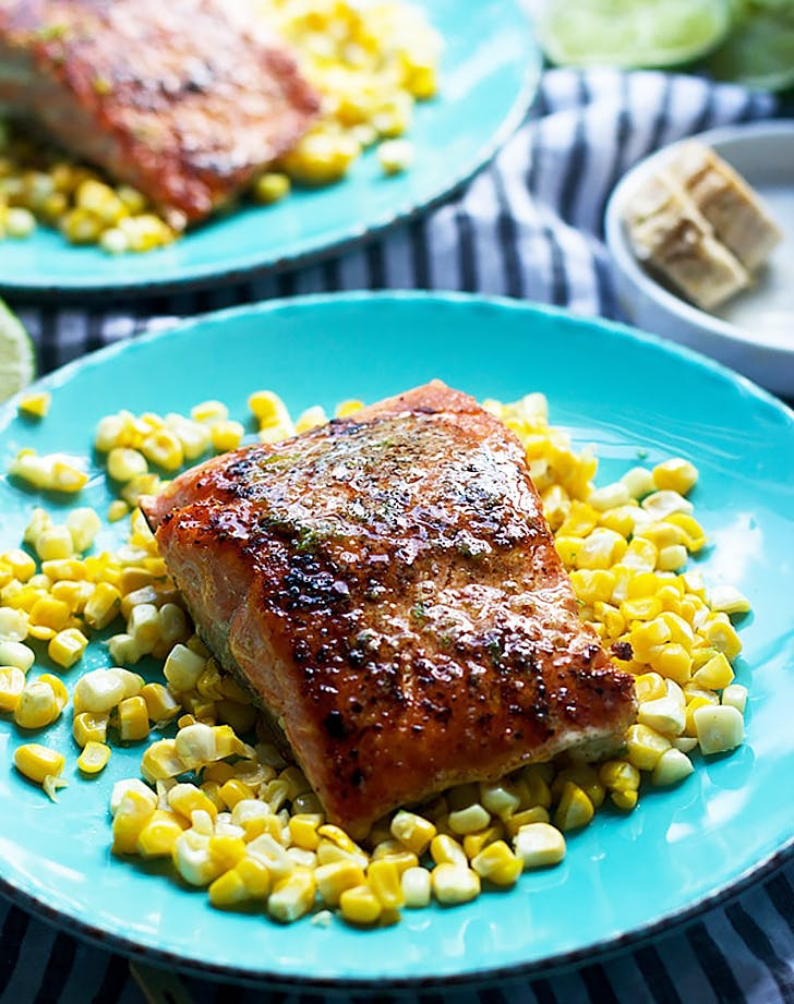 seared salmon with chipotle honey lime butter recipe