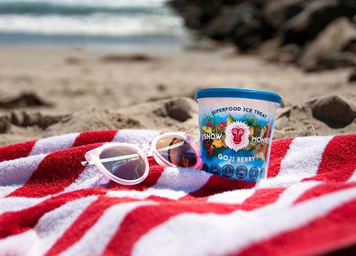 snow monkey goji berry ice cream